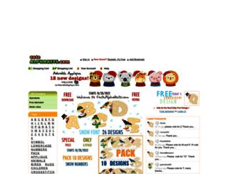 cutealphabets.com screenshot