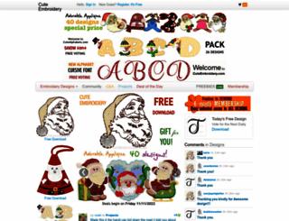 cuteembroidery.com screenshot