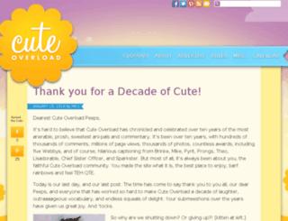 cuteoverload.com screenshot