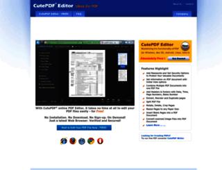 cutepdf-editor.com screenshot