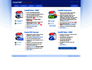cutepdf.com screenshot