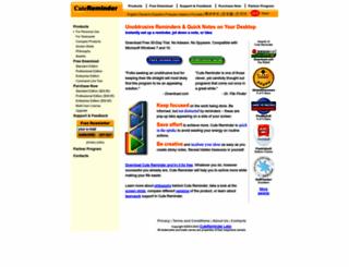 cutereminder.com screenshot
