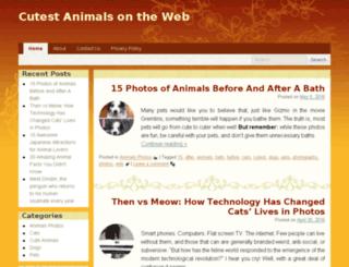 cutestanimalsontheweb.com screenshot