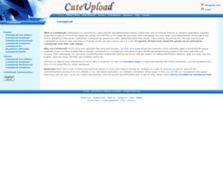 cuteupload.com screenshot