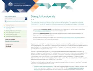 cuttingredtape.gov.au screenshot
