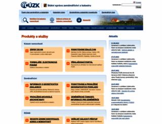 cuzk.cz screenshot