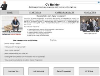 cv-builder.co.uk screenshot