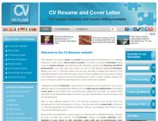 cv-resume.org screenshot