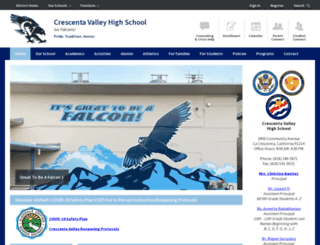 cvhsfalcons.com screenshot