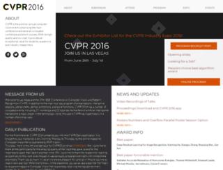 cvpr2016.thecvf.com screenshot
