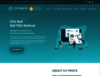 cvprofs.co.za screenshot
