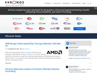 cvs.khronos.org screenshot