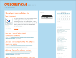 cvsecuritycam.wordpress.com screenshot
