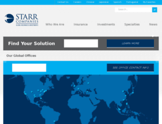 cvstarrco.com screenshot