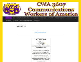 cwa3607.org screenshot