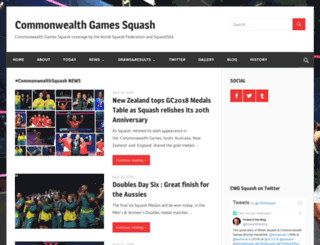 cwgsquash.net screenshot