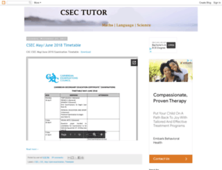 cxctutor.blogspot.com screenshot