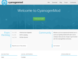 cyanogenmod.org screenshot
