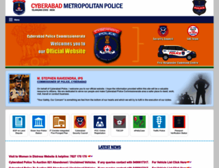 cyberabadpolice.gov.in screenshot