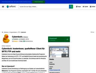 cyberduck.softonic.de screenshot