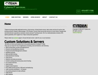 cyberiahosting.ca screenshot