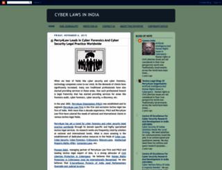 cyberlawsinindia.blogspot.in screenshot