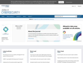 cybersecurity.oxfordjournals.org screenshot