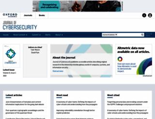 cybersecurity.oxfordjournals.org screenshot