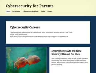 cybersecurityforparents.com screenshot