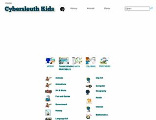 cybersleuth-kids.com screenshot