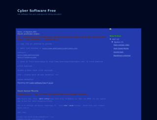 cybersoftwarefree.blogspot.com screenshot