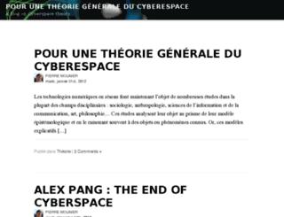 cyberspace.homo-numericus.net screenshot