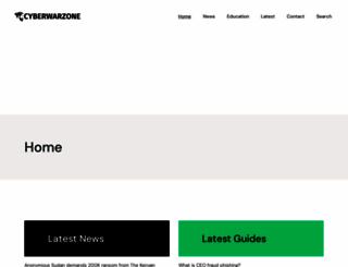cyberwarzone.com screenshot