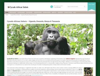 cycadssafaris.com screenshot