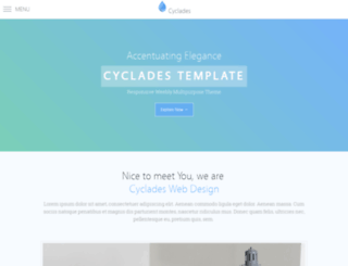 cyclades-template.weebly.com screenshot
