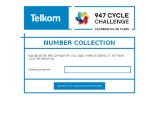 cyclechallengenumbercollection.co.za screenshot