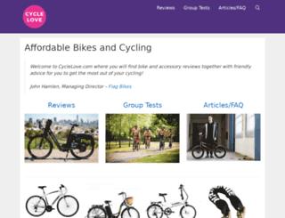 cyclelove.net screenshot