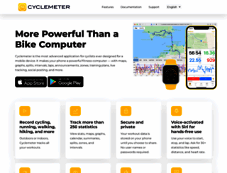 cyclemeter.com screenshot
