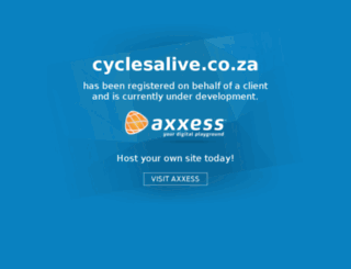 cyclesalive.co.za screenshot