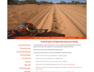 cycletrailsaustralia.com screenshot