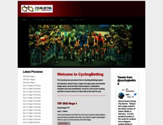 cyclingbetting.co.uk screenshot