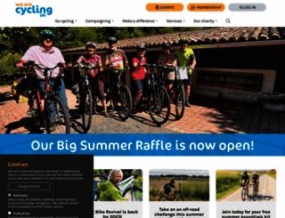 cyclinguk.org screenshot