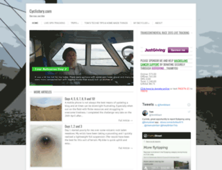 cyclistory.com screenshot