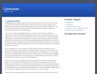 cykelnyheter.se screenshot