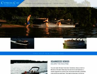 cypresscaypontoons.com screenshot