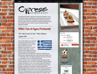 cypressrestaurant.com screenshot