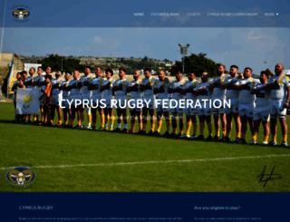 cyprus-rugby.com screenshot
