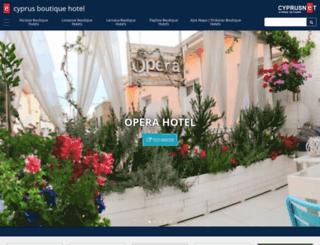 cyprusboutiquehotel.com screenshot