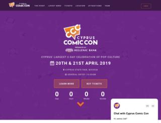 cypruscomiccon.org screenshot