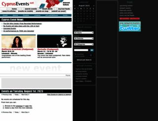 cyprusevents.net screenshot